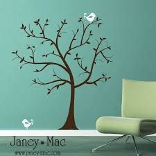 Tree Wall Decal Sticker Classic Simple Tree With Birds Vinyl Wall Art Sticker Decal Etsy Wall Decals Vinyl Wall Art Sticker Wall Art
