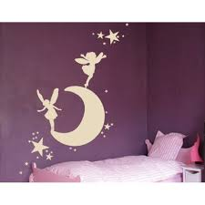 Moon With Elves And Fairies Wall Decal Wall Sticker Vinyl Wall Art Home Decor Wall Mural 1343 59in X 33in Pink Walmart Com Walmart Com