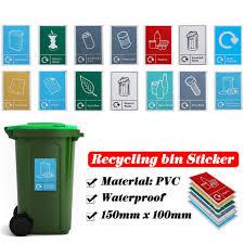 Classification Sign Recycle Bin Trash Bin Stickers Recycling Sticker Waste Signage General Waste Logo Garbage Litter Bucket Can Wall Stickers Aliexpress
