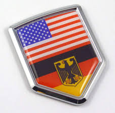 Amazon Com Car Chrome Decals Usa Germany American German Flag Car Chrome Emblem 3d Decal Sticker With Adhesive Cbshd228 077 Automotive