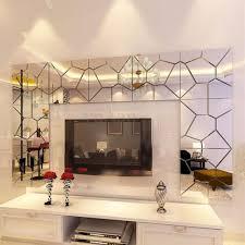 7pcs 3d Irregular Mirror Effect Wall Stickers Art Mural Decal Modern Home Decor Wall Stickers Home Decor Mirror Decal Home