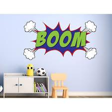 Zoomie Kids Hurtt Comic Book Boom Wall Decal Wayfair