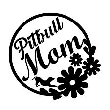 16 15 1cm Pitbull Mom With Flowers And Playful Pitty Vinyl Rear Window Car Sticker Body Decals Car Stickers Aliexpress
