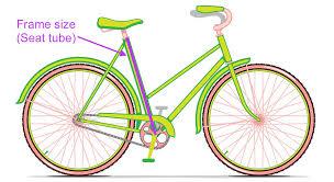 city bike size chart