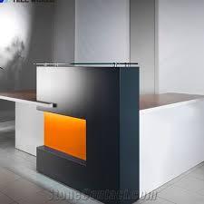 solid surface hair salon reception desk