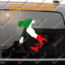 Flag And Map Of Italy Italian Car Decal Sticker Choose Your Size Sticker Flag Flag Italyflag Car Stickers Aliexpress