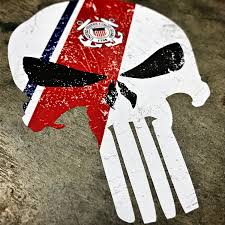 Punisher Texas Flag Decal Sticker Vinyl 4 75 X 7 Inch Greentalent It
