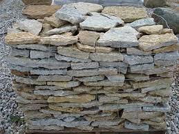 flat rock wall stone garden wall