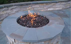fire pit glass stone awesome idea