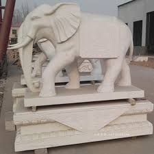 hand carving stone elephant statue