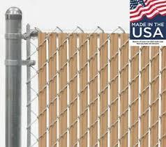 8 Ft High Beige Wave Slat Single Wall Privacy Chain Link Fence Slats Ebay