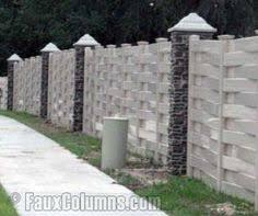 10 Design Ideas Fence Posts Brick Columns Fence Styles Faux Stone