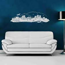 Anchorage Alaska City Skyline Wall Decal Style And Apply