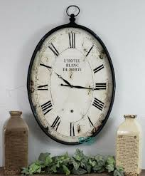 oval metal wall clock paris vintage
