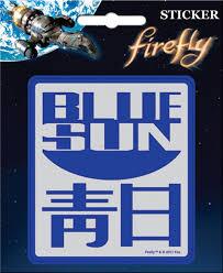 Firefly Serenity Blue Sun Logo Peel Off Sticker Decal New Sealed Starbase Atlanta
