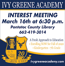 A Fresh Approach To Education in Pontotoc, MS, Schools - Ivy Greene Academy