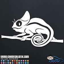 Cute Chameleon Lizard Car Vinyl Decal Sticker Reptile Decals Car Decals Vinyl Vinyl Decal Stickers Car Decals