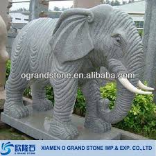large garden elephant stone statues
