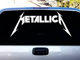 Amazon Com Metallica American Hard Rock Metal Band Logo Album Cover Silhouette Car Truck Laptop Window Decal Sticker 30 Inches White Car Electronics