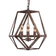 brown metal cage hanging ceiling light