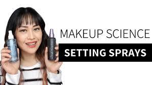 how do make up setting sprays work