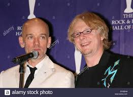 Michael Stipe and Mike Mills of R.E.M. Rock & Roll Hall of Fame ...