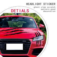 Car Styling Scratch Stripe Headlight Decal Sticker 40 X 12cm For Abarth Fiat 500 Bmw E60 E36 E34 Mercedes Benz W204 Volvo Xc90 Car Stickers Aliexpress