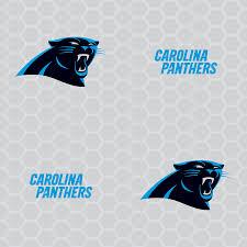 carolina panthers logo pattern gray