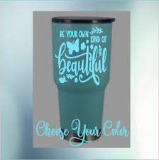 With Mom Quote Tumblers Sticker Monogram Vinyl Decal For Cups Ramblers