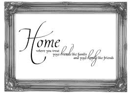 home family friends text quotes art mural printed wall mural
