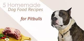 homemade dog food recipes for pitbulls