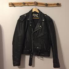 drop mens leather biker jacket