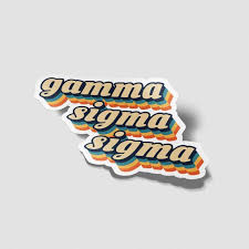 Gamma Sigma Sigma 70 S Decal Sticker Outside Car Computer Etsy