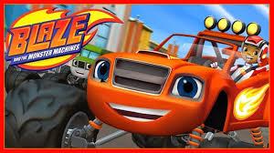 Nhạc thiếu nhi Finger Family trò chơi game xe Blaze và monster ...