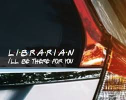 Librarian Decal Etsy