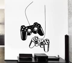 Vinyl Wallstickers Joystick Wall Decal Gamer Video Game Play Wall Decals For Home Decoration Wall Mural Wall Decals Gamer Wall Decalsfor Home Aliexpress