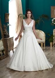 v neck ballgown wedding dress