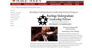 UMD PSYC E-News: Apply to the Rawlings Undergraduate Leadership Fellows  Program! Deadline is March 9th!