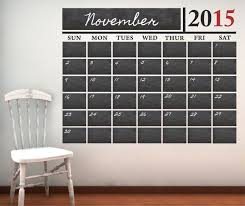Chalkboard Calendar With Free Numbers Through 2017 Vinyl Wall Decal Sticker Decor Designs Decals Chalkboard Calendar Chalkboard Wall Decal Wall Decals