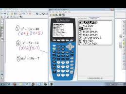 calculator college algebra factoring