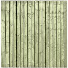 Tanalised Featheredge Fence Panel 6 Wide X 6 High A P Fencing