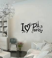 Amazon Com Paris Wall Decal French France Paris Eiffel Tower Paris Inspirational Wall Sticker Quotes Wall Decorations Decor Wall Decals For Girls Room Baby