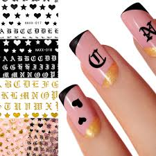 1pc Rose Gold English Letter 3d Diy Adhesive Nail Sticker Tool Black Word Character Nail Adhesive Sticker Decals Nail Decoration Buy At The Price Of 0 46 In Aliexpress Com Imall Com