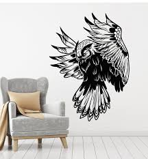 Vinyl Wall Decal Owl Night Forest Bird Flying Tribal Kids Room Sticker Wallstickers4you