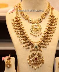 gold jewellery design necklace and