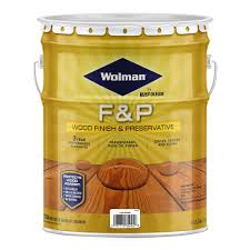 Wolman 5 Gal F P Natural Exterior Wood Stain Finish And Preservative 14395 The Home Depot