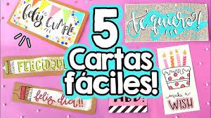 5 Cartas Faciles Para Regalar Barbs Arenas Art Youtube