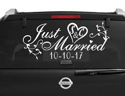 Just Married Car Window Decal Wedding Car Kit Just Married Etsy