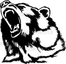 Bear Head Decal Angry Grizzly Wall Car Truck Laptop Window Vinyl Sticker 6 Ebay