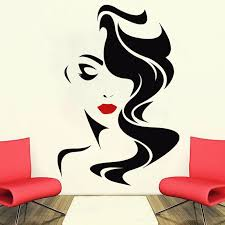 Wall Decal Beauty Salon For Lady S Red Lips Vinyl Sticker Home Decor Hairdresser Hairstyle Hair Hairdo Barbers Window Decal Sl06 Wall Stickers Aliexpress